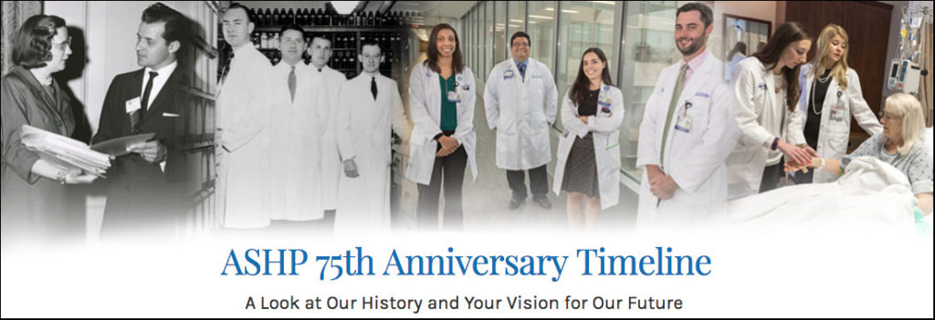 ASHP 75th Anniversary Timeline Image