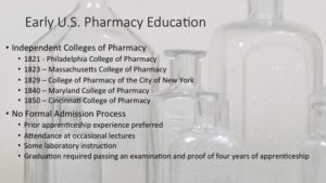 Sample slide about Early US Pharmacy Education