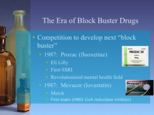 Sample slide about the Era of Blockbuster Drugs from Presentation E - Growth of the Pharmaceutical Industry