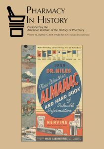 Cover of Pharmacy in History vol. 60, no. 4 (2018)