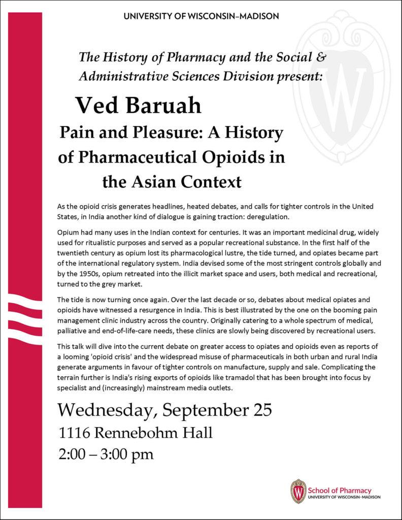 Poster for Ved Baruah Talk