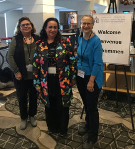 (Left to right) Sandra Fabregas Troche, Paloma Ruiz Vega, and Emanuela Appetiti at the 44th International Congress for the History of Pharmacy. (Photo courtesy of Emanuela Appetit