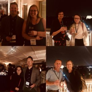 Four views of the Reception on the Terrace at APhA Headquarters. (Photos courtesy of Naomi Rendina)