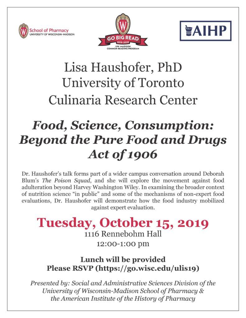 Poster for presentation by Lisa Haushofer