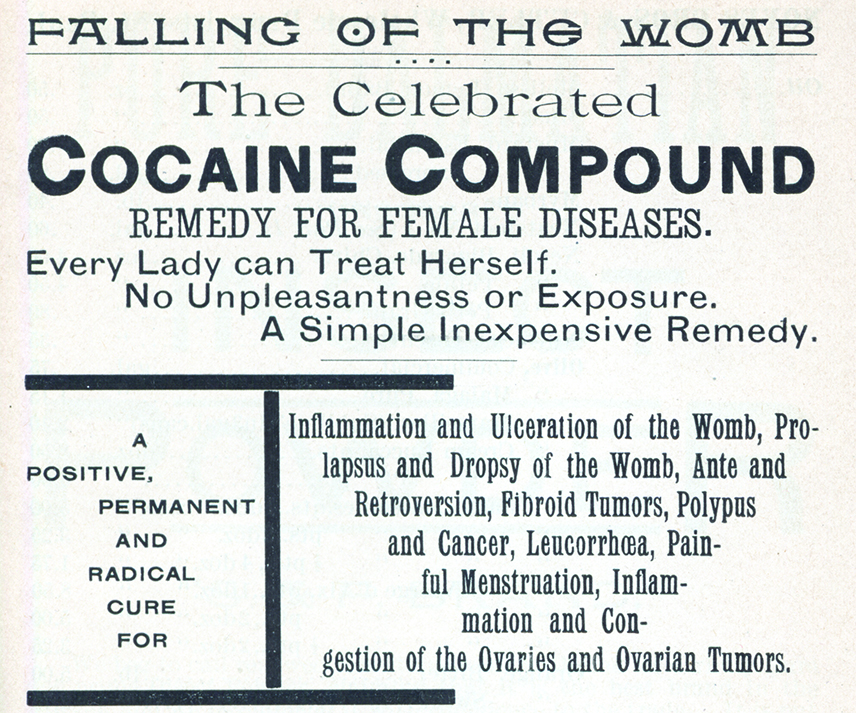 "Advertisement for ""The Celebrated Cocaine Compound"" from the 1890 Noyes Brothers & Cutler catalog"