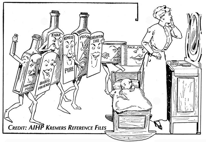 """False Friends with Fair Faces"" cartoon from 1916 NARD People's Almanac."