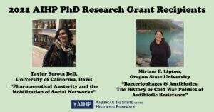 2021 AIHP PhD Research Grant Recipients