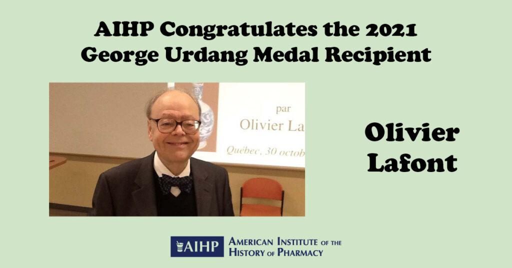 2021 Urdang Medal Lafont